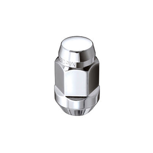 McGard Hex Lug Nut (Cone Seat Bulge Style) M12X1.5 / 3/4 Hex / 1.45in. Length (4-Pack) - Chrome