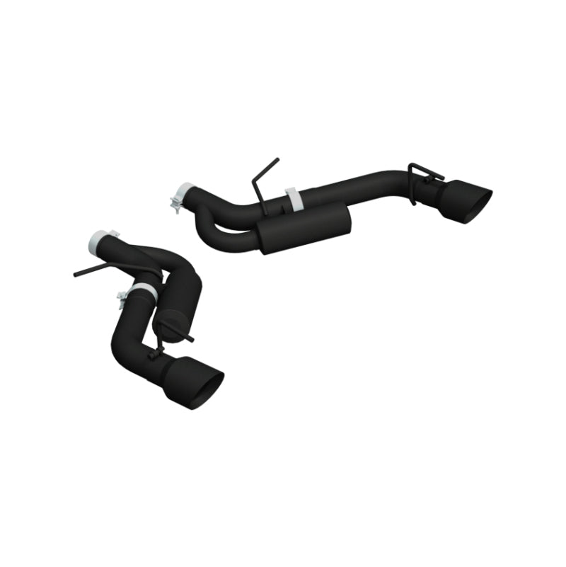 MBRP 16-19 Chevrolet Camaro SS Dual Rear Exit Axle Back w/ 4.5in OD Tips - BLK (Non NPP Models)