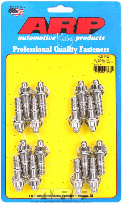 ARP Stainless Steel Header Stud Kits 400-1403