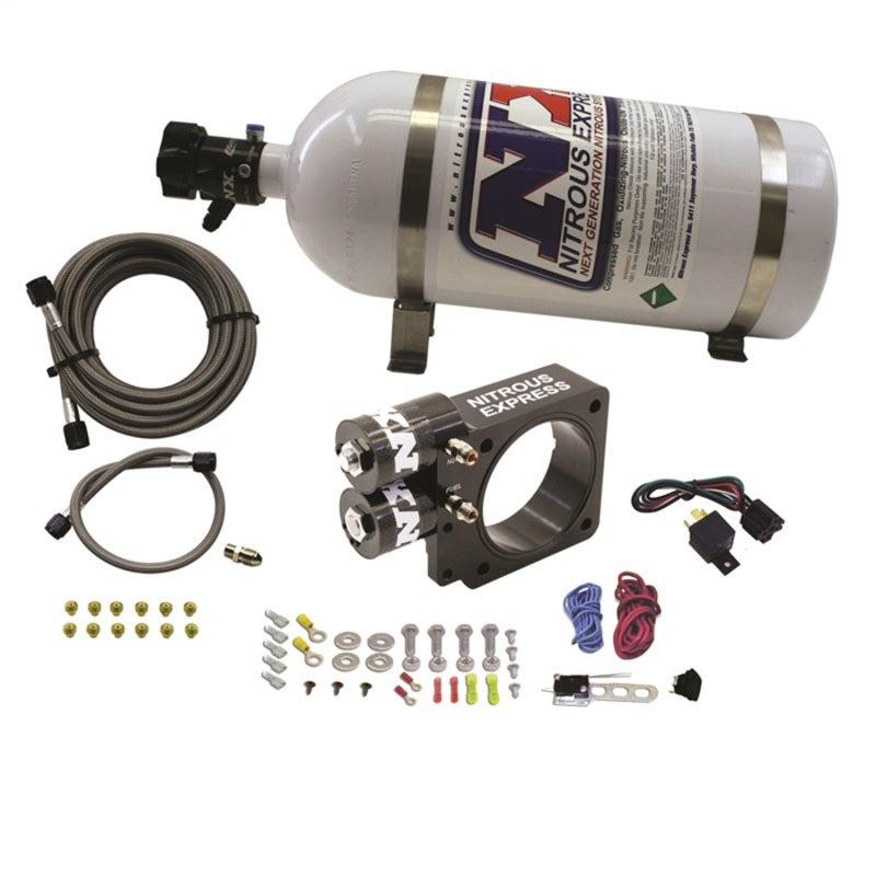 Nitrous Express 86-93 Ford Mustang GT 5.0L (Pushrod) Nitrous Plate Kit w/10lb Bottle