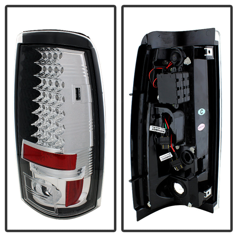 Spyder Chevy Silverado 1500/2500 03-06 (Does Not Fit Stepside)LED Tail Lights Chrm ALT-YD-CS03-LED-C