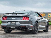 Load image into Gallery viewer, Borla 2018 Ford Mustang GT 5.0L AT/MT 3in S-Type Catback Exhaust Black Chrome Tips w/ Valves