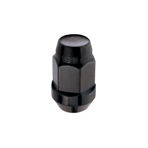 McGard Hex Lug Nut (Cone Seat Bulge Style) M14X1.5 / 22mm Hex / 1.635in. Length (4-Pack) - Black