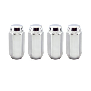 McGard Hex Lug Nut (Cone Seat) M14X1.5 / 13/16 Hex / 1.945in. Length (4-Pack) - Chrome