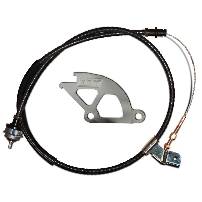 BBK 79-95 Mustang Adjustable Clutch Quadrant And Cable Kit