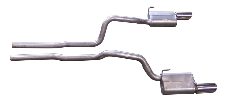 Gibson 05-10 Ford Mustang GT 4.6L 2.5in Cat-Back Dual Exhaust - Stainless