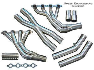 "LS1 LS6 C5 Corvette Longtube Headers (1 7/8"" Race Version) X-Pipe ""Stainless"""