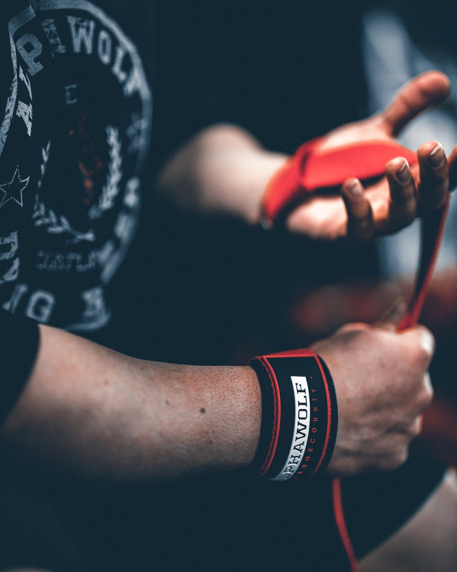 AlphaWolf Lifting Straps (Red)