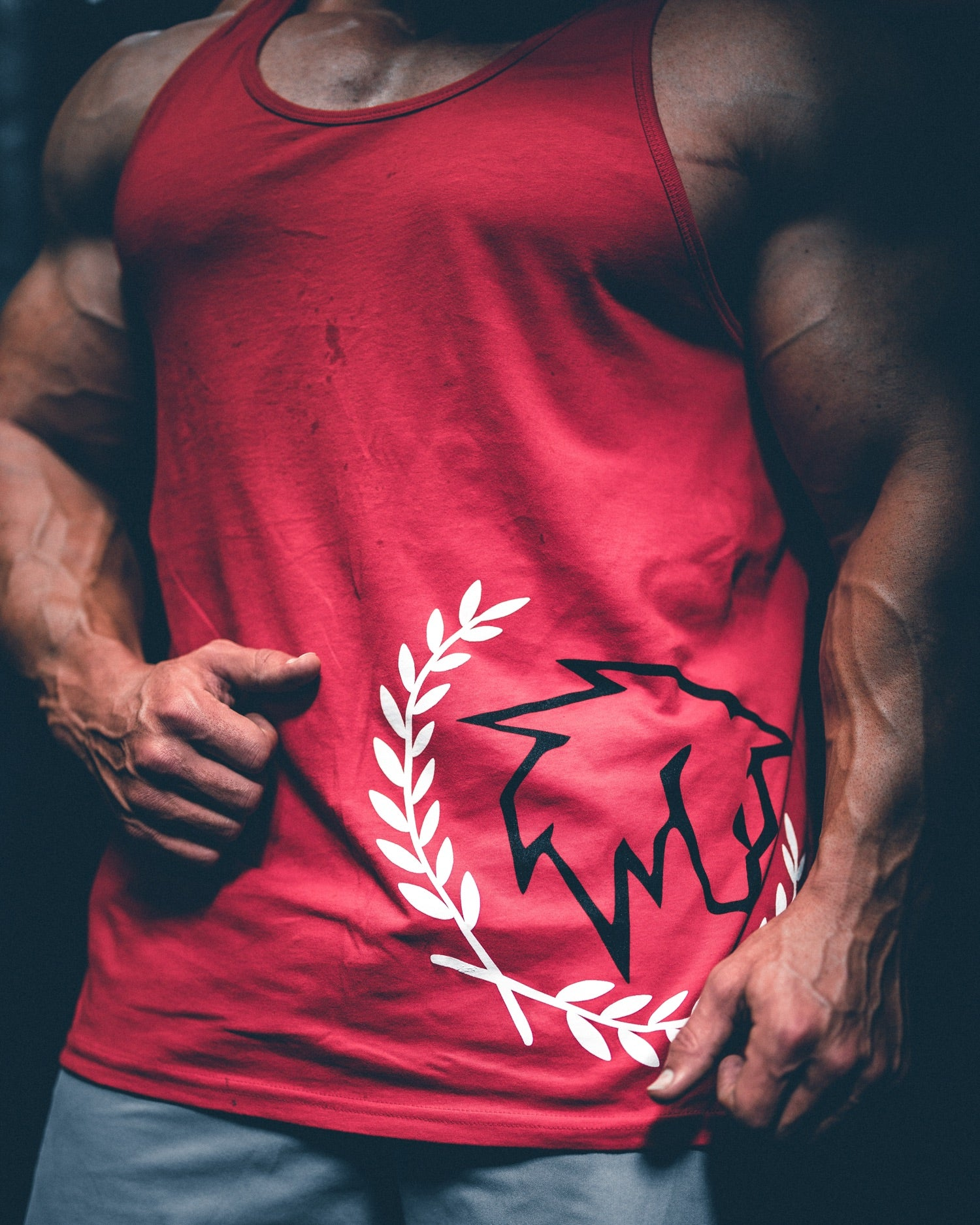 Men's AlphaWolf Tank Top (Red)