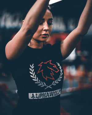 Women's AlphaWolf Crew Neck (Black)