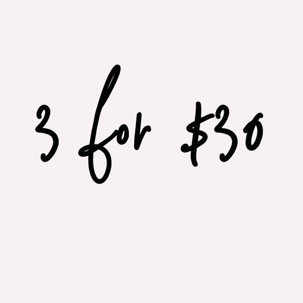 3 for $30 Editor's Pick