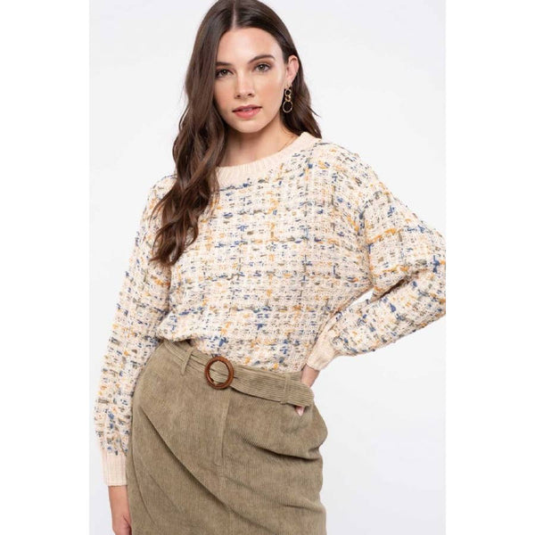 Norah Oatmeal Drop Shoulder Sweater