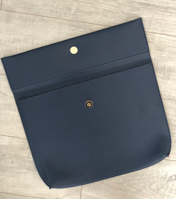 Caroline Navy Clutch Bag