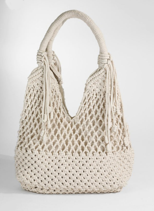 Ivory Crochet Shoulder Bag