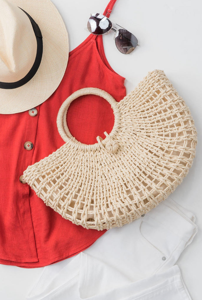 Ivory Boho Basket Bag