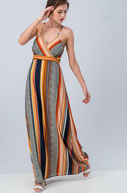 Boho Stripe Maxi Dress