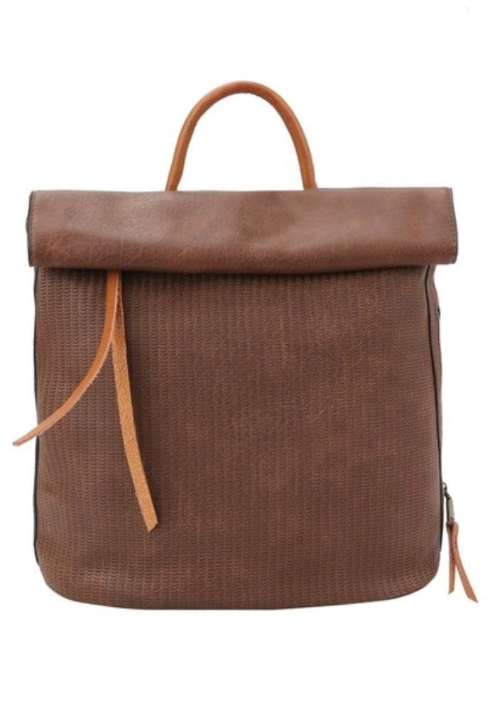 Going Places Brown Backpack Purse
