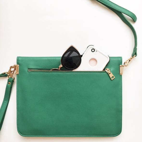 Emerald Milan Clutch
