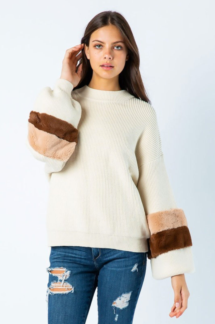 Emma Ivory Knit Sweater