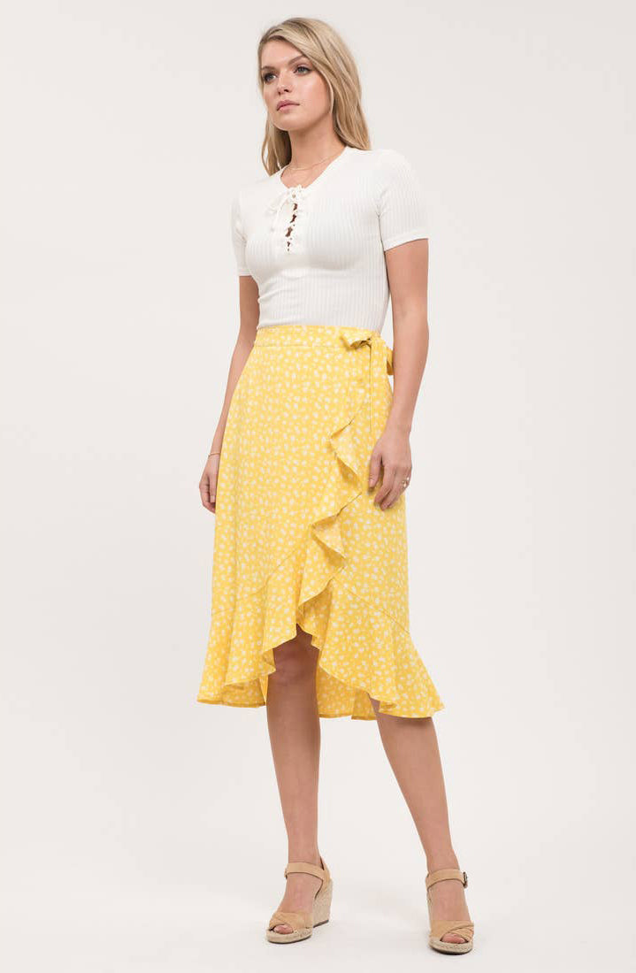 Floral Yellow Skirt