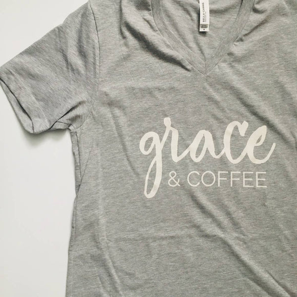 Grace and Coffee Graphic Tee Shirt
