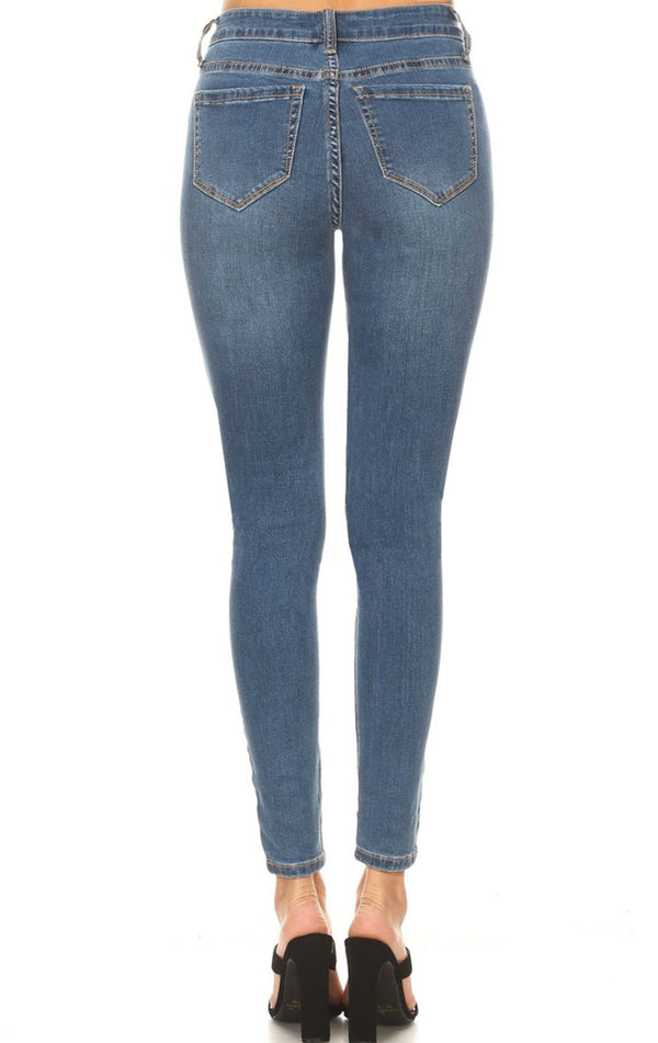 Kinsley Mid-Rise Skinny Jeans