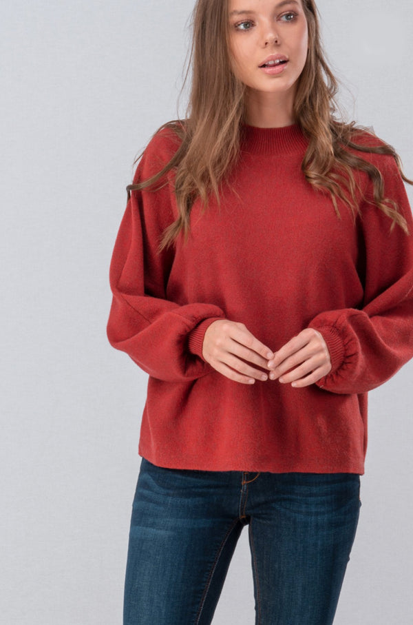 Sara Rust Sweater Top