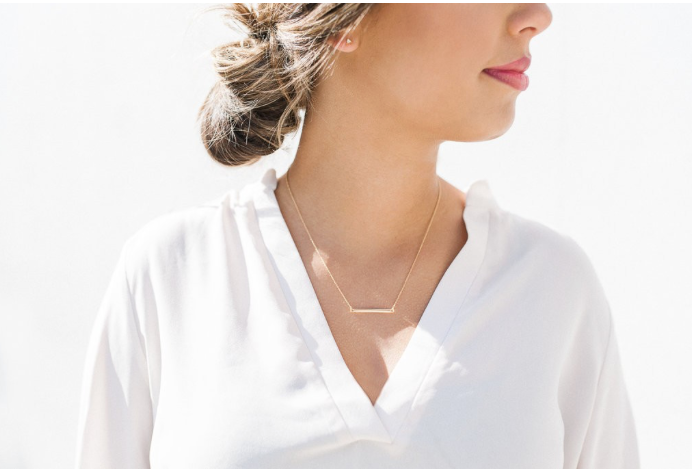 Classic Horizontal Bar Necklace