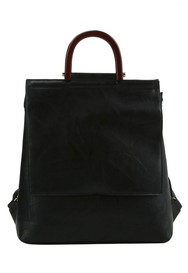 Stella Black Backpack Purse