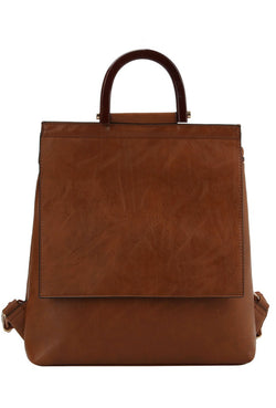 Stella Brown Backpack Purse