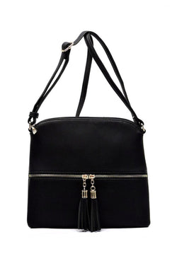Black Color Block Crossbody Purse