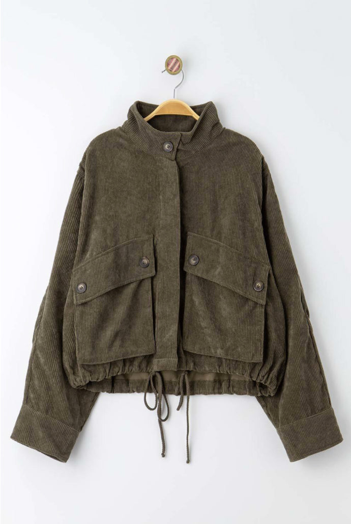 Dare To Be Olive Corduroy Jacket