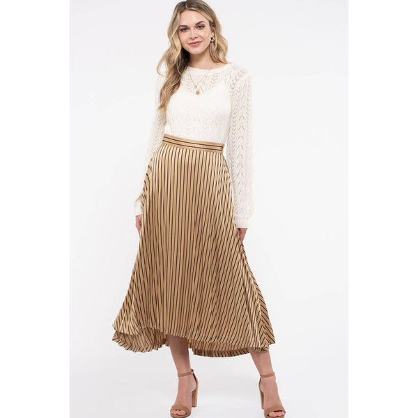 Alice Gold Midi Skirt