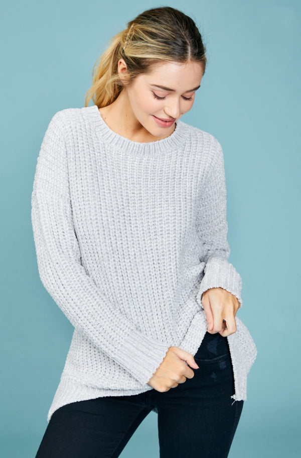 Oh So Grey Chenille Sweater