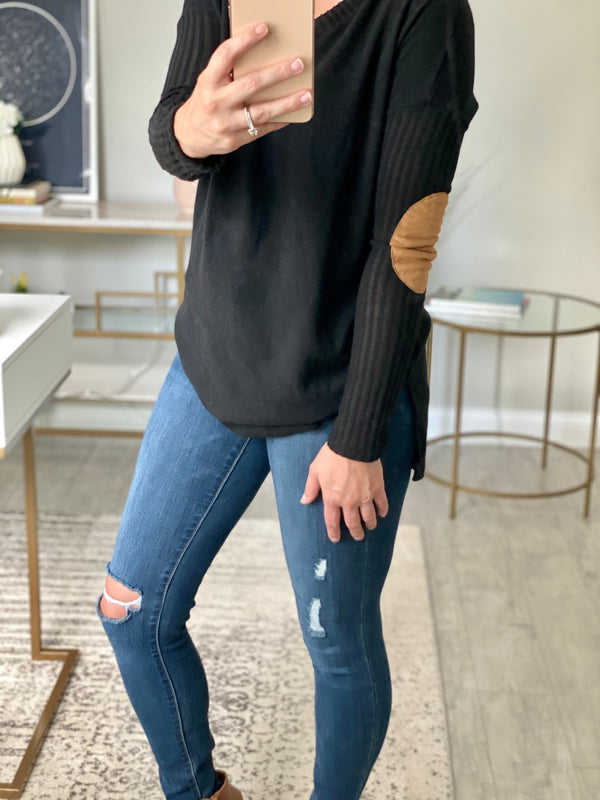 Ivy Black Long Sleeve Top