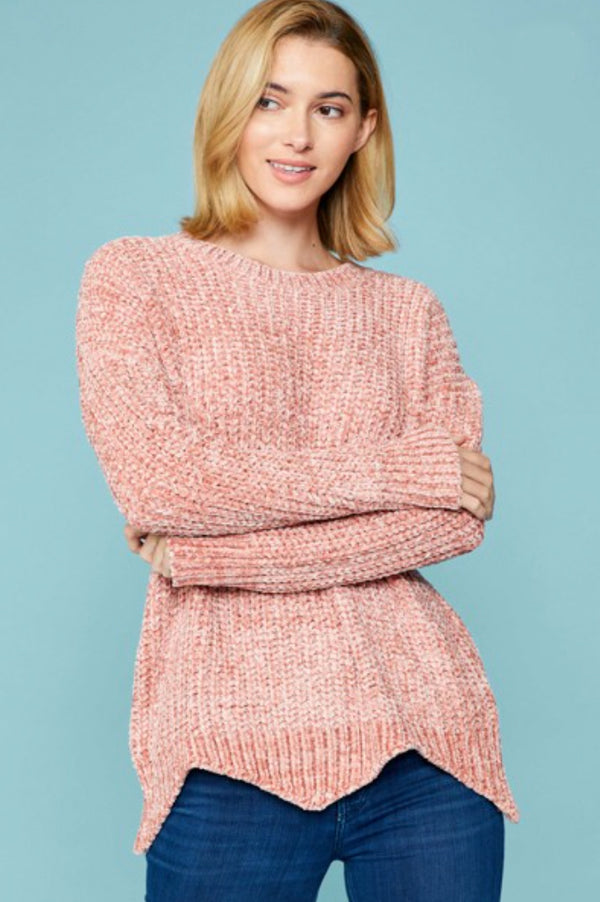 Oh So Muave Chenille Sweater