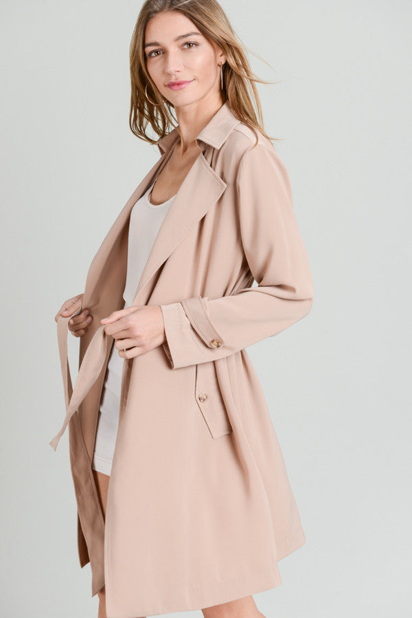 Latte Soft Trench Coat
