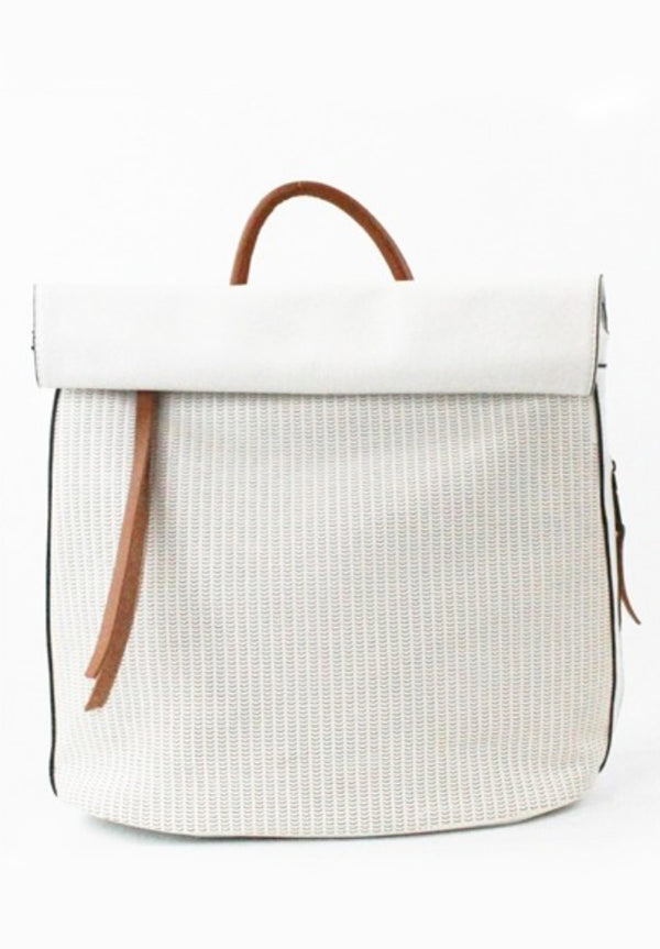 Going Places White Backpack Purse