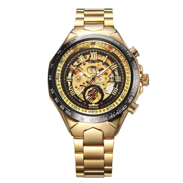Winner Men Classic Stylish Steampunk Mechanical Watch