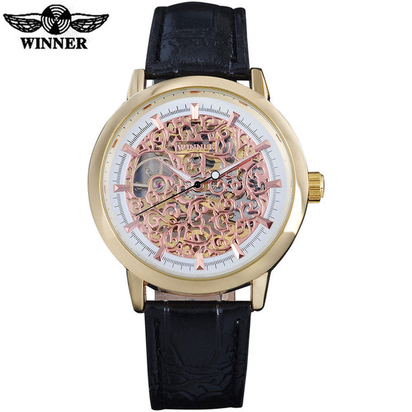 WINNER Mechanical Watch with Leather Strap