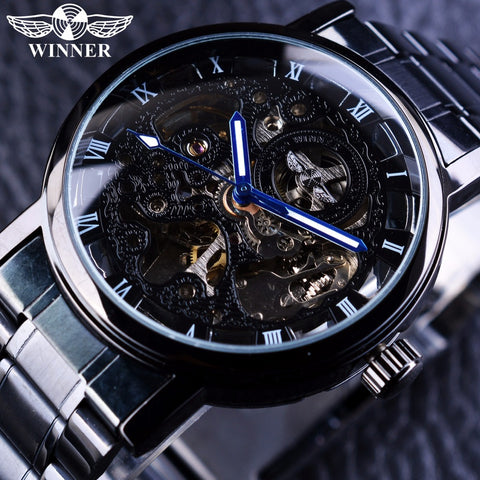 Winner Transparent Steampunk Casual Mechanical Watch