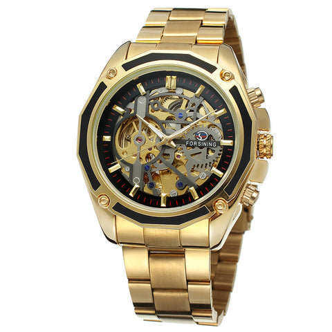 Men Automatic Mechanical Skeleton Watch