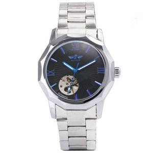 Winner Blue Exotic Design Automatic Mechanical Watch