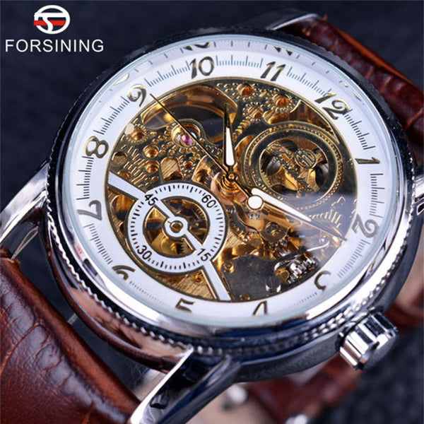 Forsining Classy Hollow Engraving Mechanical Watch