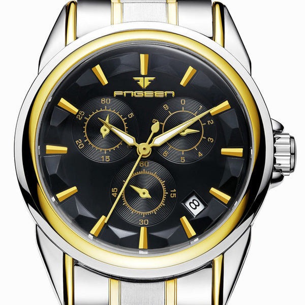 Fngeen Automatic Mechanical Watches with Stainless Steel Band