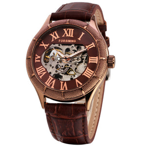 Forsining Vintage Mechanical Watch with Roman Numeral
