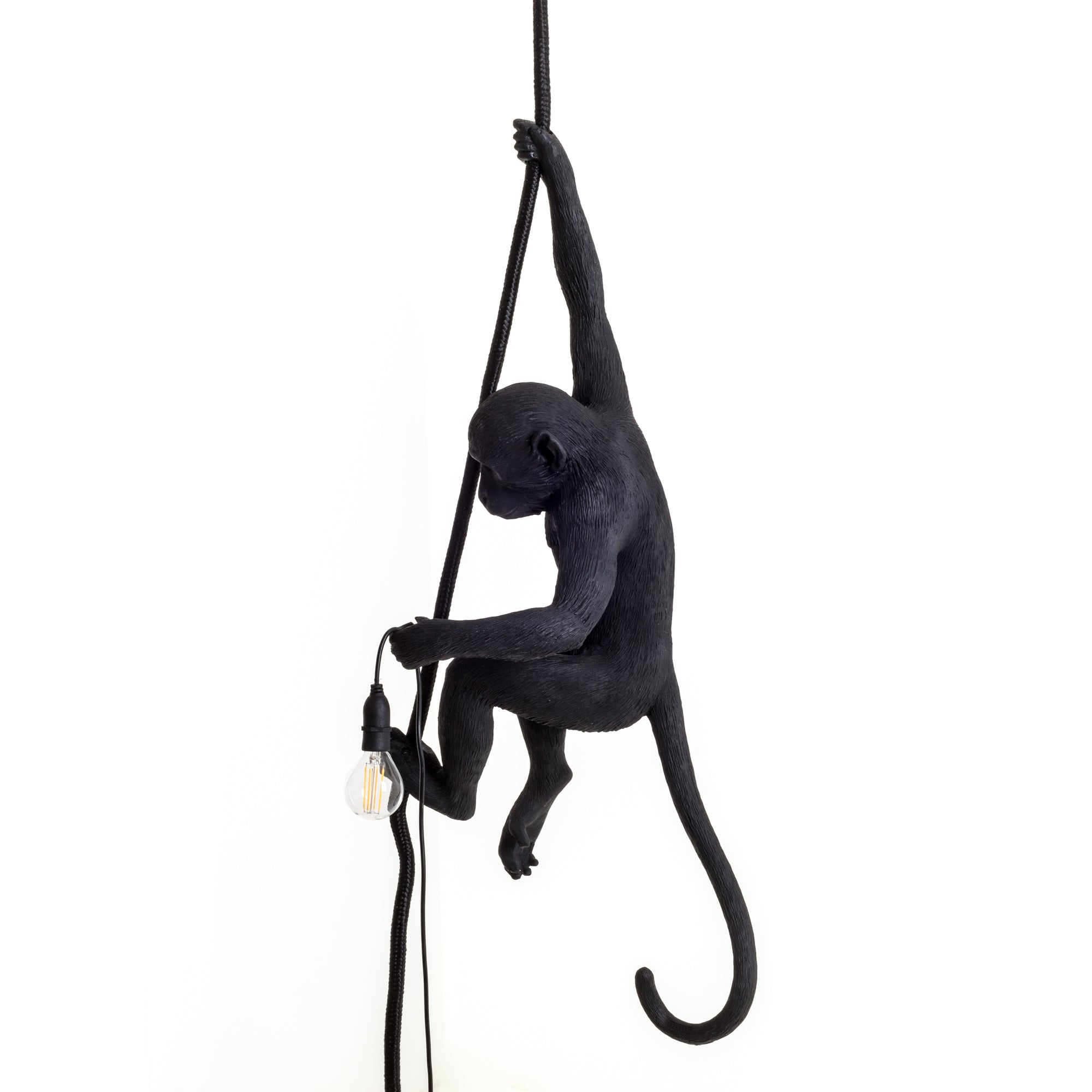 Ceiling Rope Black Monkey Lamp