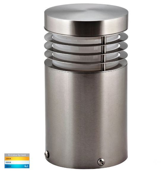 Mini 316 Stainless Steel TRI Colour LED Bollard Light
