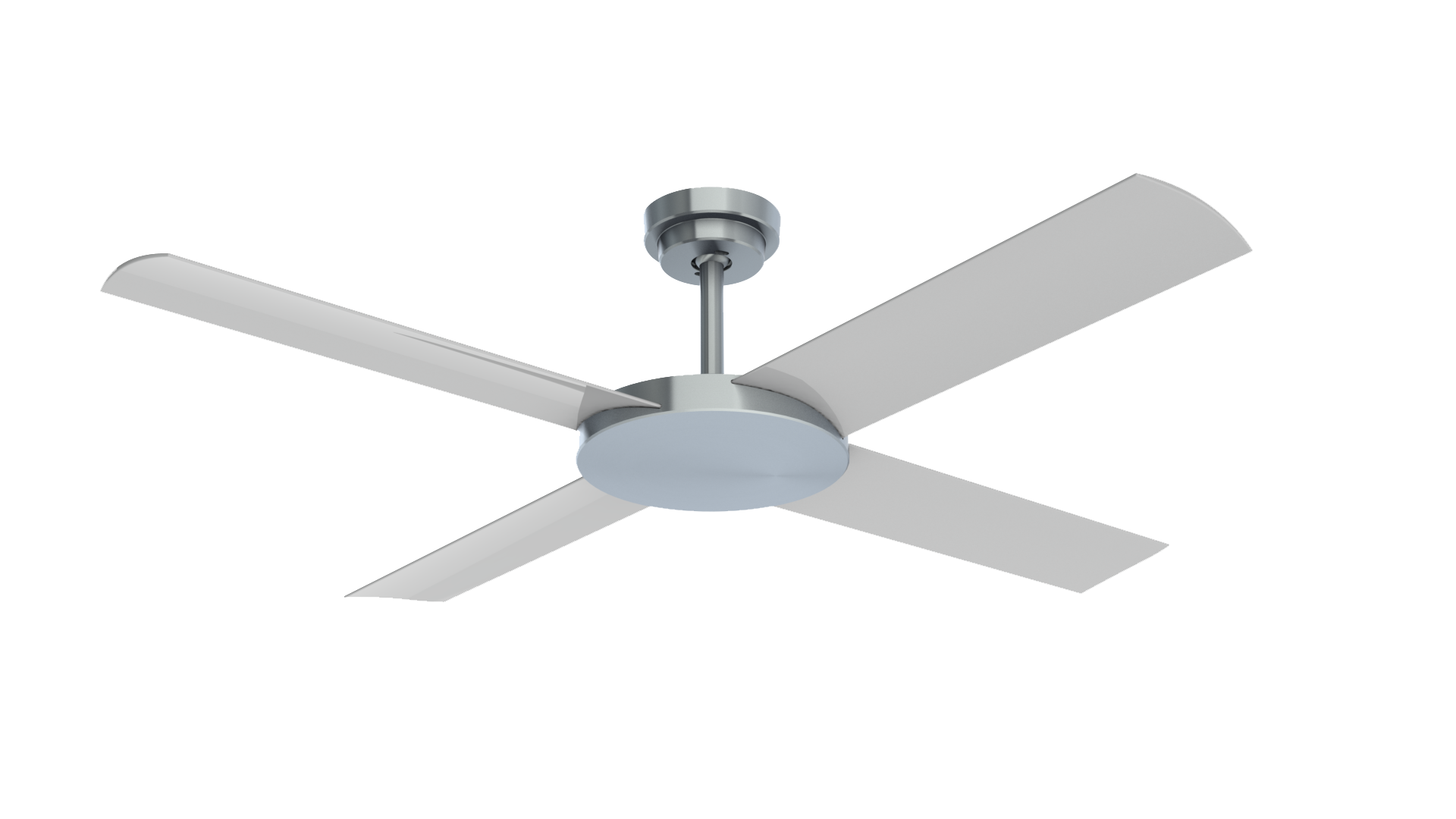 "Revolution 3 Brushed Aluminium 52"" Indoor/Outdoor Ceiling Fan with Wall Control"