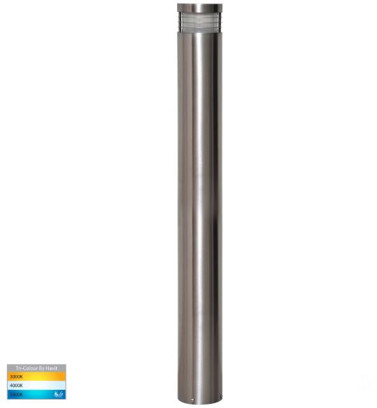Maxi 900 316 Stainless Steel TRI Colour LED Bollard Light